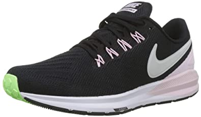 3f1c4654ef691 Nike Air Zoom Structure 22 Women s Running Shoe Black VAST Grey-Pink Foam -