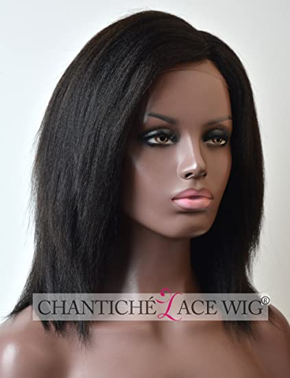 chantiche® italiano yaki corto bob peluca 3.5 relastic Looking Invisible Izquierda Deep Parting Glueless brasileño