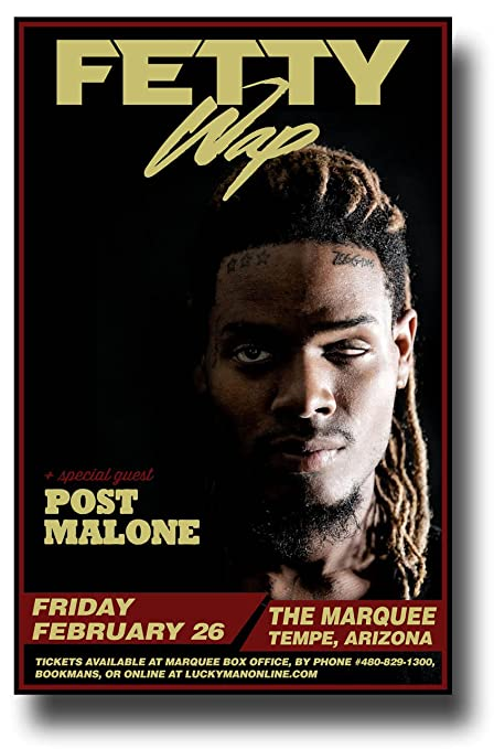 Amazon com: Fetty Wap Poster - 11 x 17 Concert Promo on the