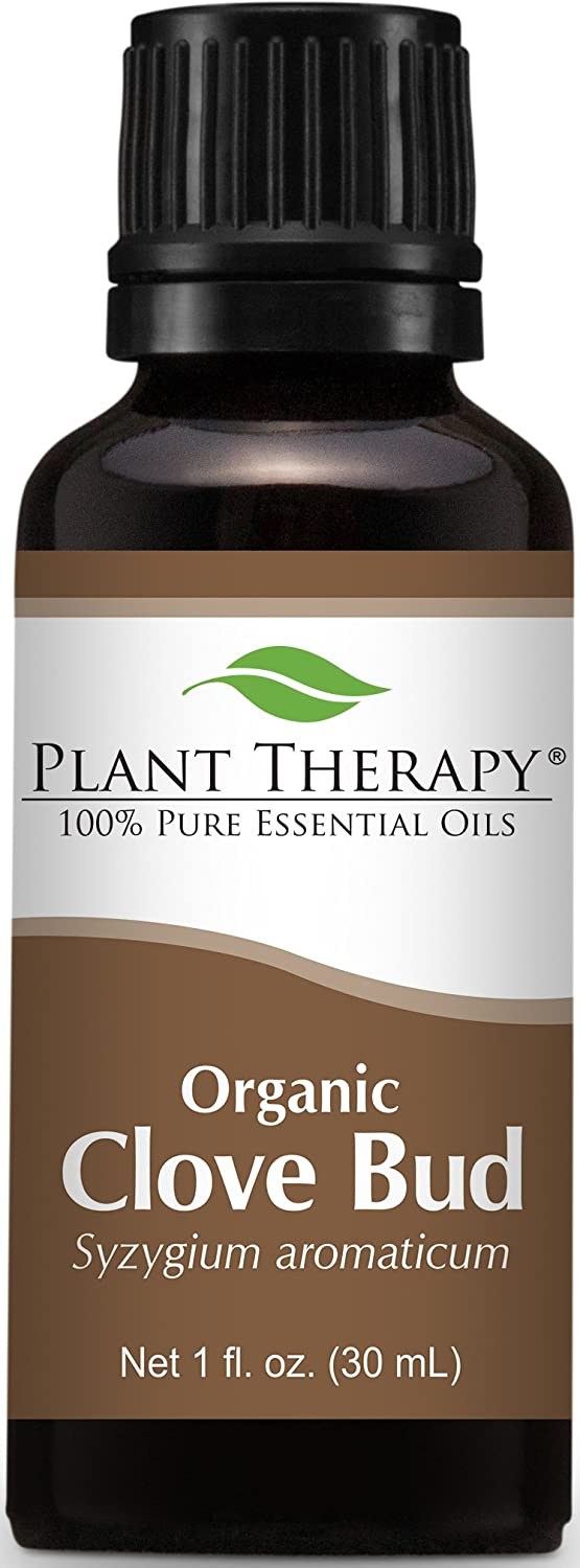 Plant Therapy USDA Certified Organic Clove Bud Essential Oil. 100% Pure, Undiluted, Therapeutic Grade. 30 mL (1 Ounce). Plant Therapy Inc