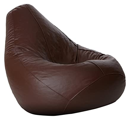 Comfy Bean Bags XXXL Bag Filled With Beans Filler Brown