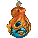 Old World Christmas Sea and Water Animals Glass Blown Ornaments for Christmas Tree Octopus