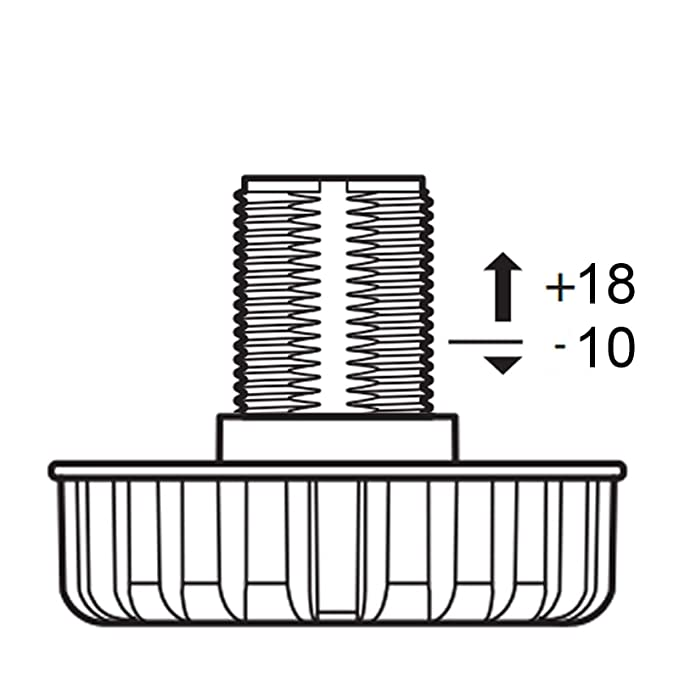 Set Möbelfuß Sockelfuß Stellfuß 150 mm verstellbar von SO-TECH ...