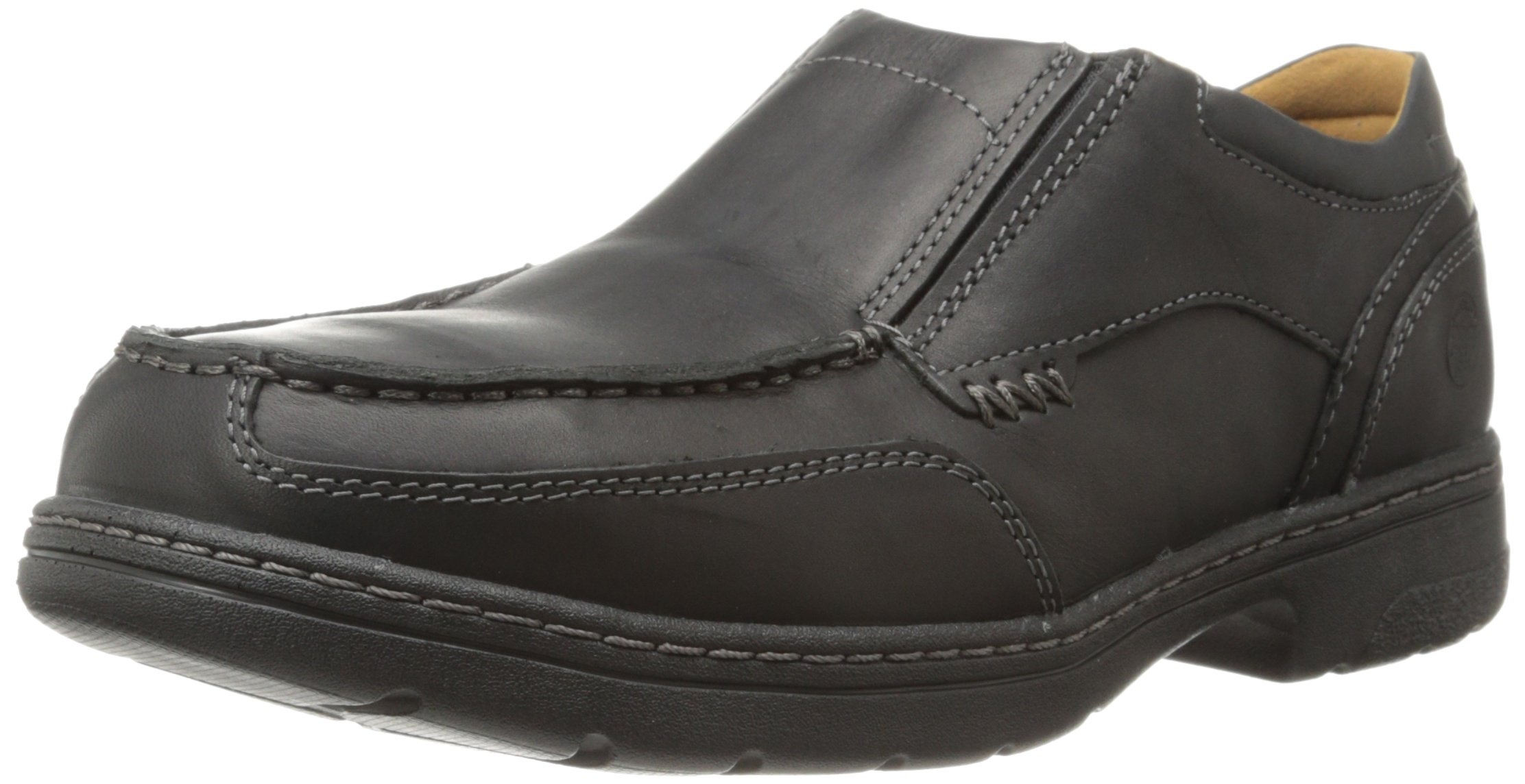 Timberland PRO Men's Branston Alloy Moc Toe S/O ESD Industrial Shoe,Black Distressed Leather,9 M US