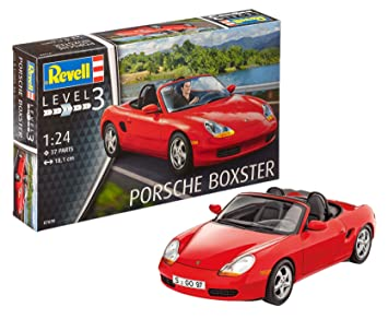 Revell Porsche Boxster Model Kit 1 24 Scale 18 1 Cm Amazon Co Uk