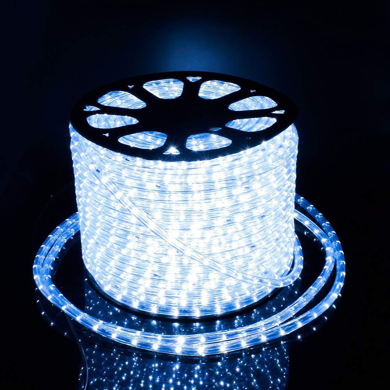 10Mete LED Lichterschlauch Lichtschlauch Lichterkette Licht Leiste 36LEDs/M und Außenbereich Lauflichter für Saal,Garten, Weihnachten, Hochzeit,Partyund Innen Kaltweiß COCOMIA