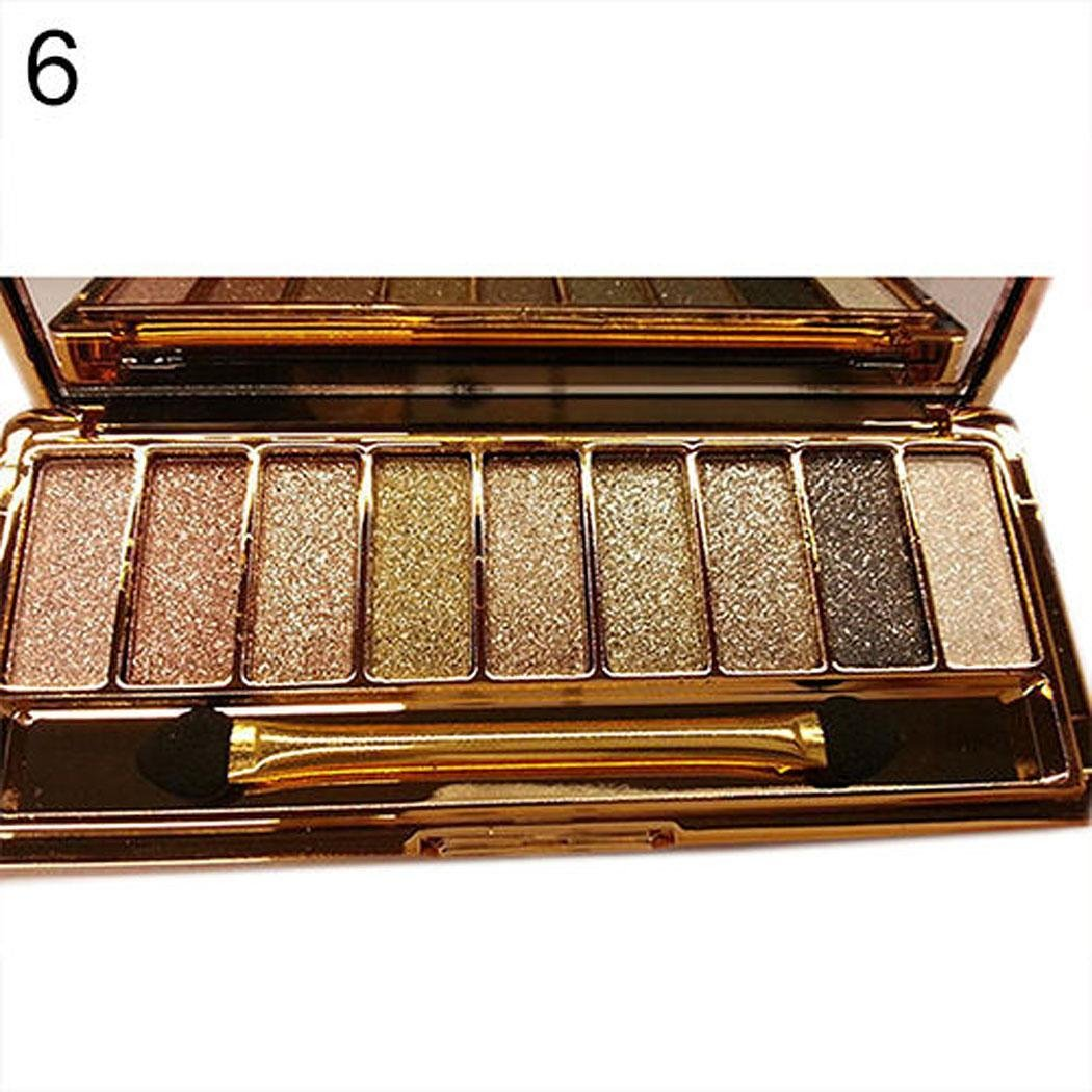 9 Colors Makeup Eyeshadow Glitter Palette Waterproof Shimmer Eyeshadow Palette with Brush Bright Colorful Eyeshadow Powder 71W2Bpey361L