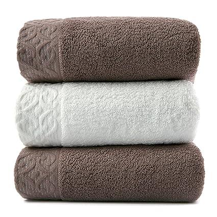 Toallas CHENGYI absorbentes absorbentes Suaves más Gruesas Microfibra del algodón casero casero Suave (3 Pedazos