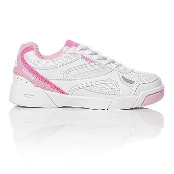 Zapatillas Tenis Blancas Rosa Niña Proton (26-35) (Talla: 30): Amazon.es: Deportes y aire libre