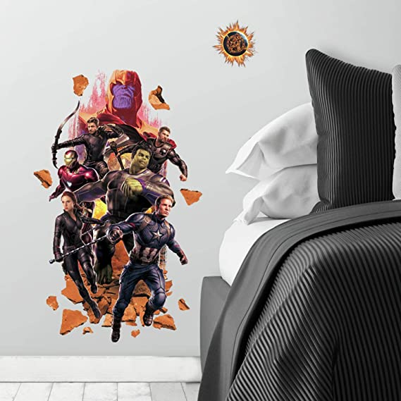 Avengers End Game Wall Hole 3D Decal Vinyl Sticker Decor Room Smashed 2