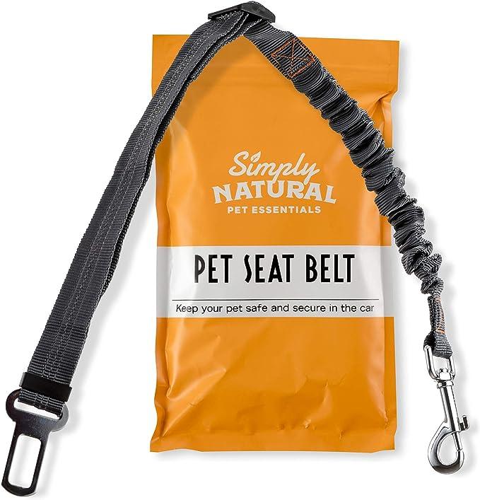 Haustier Sicherheitsgurt By Simply Natural Bungee Puffer 70 80cm Hunde Sicherheitsgurt Für Auto Mit Kompatiblem Haustier Sicherheitsgurt Clip Haustier