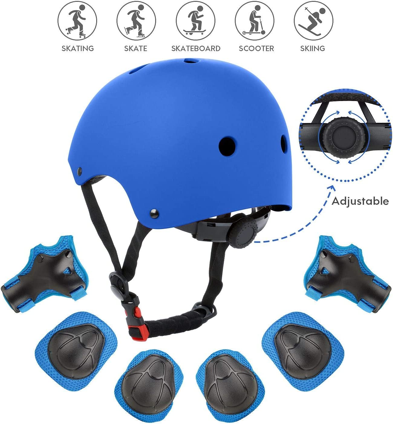 Kids Adult Skate Skateboard Helmet /& Protector For Skate BMX Scooter Stunt CA