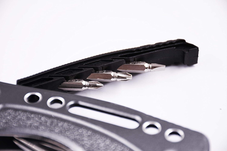 etc ROLLINGDOG Multi-function crescent wrench with CRV screwdriver bits knives ROLLINGDOG Tools