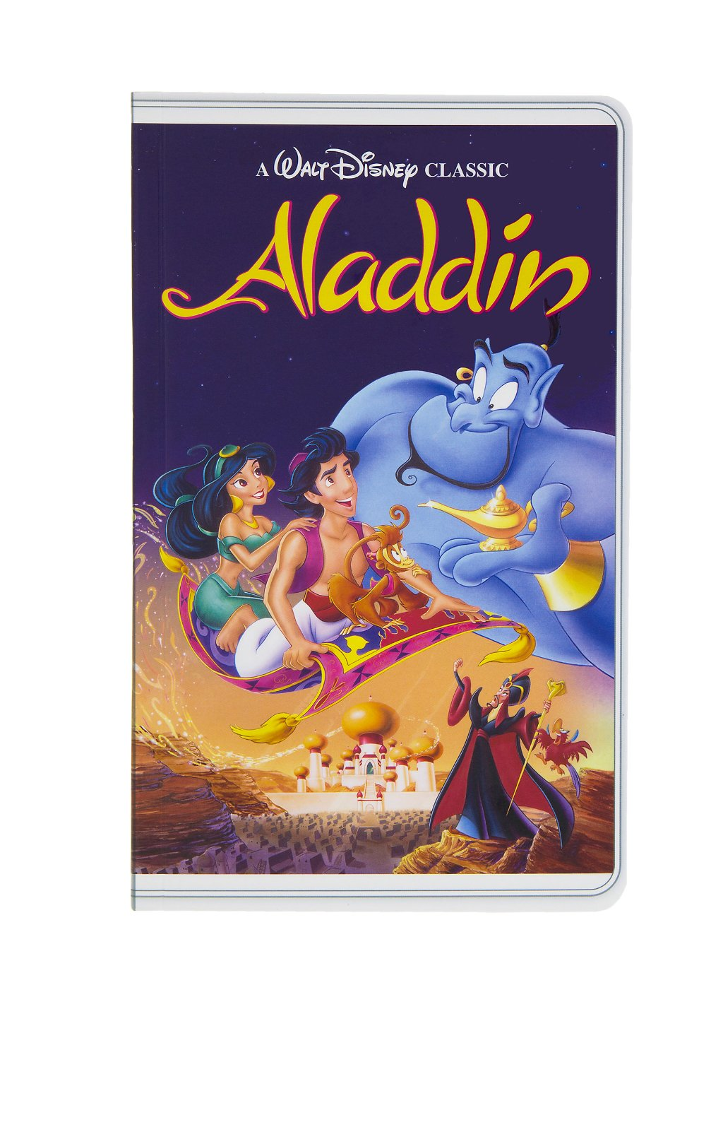Disney Parks Aladdin VHS Cover Blank Book Journal Diary