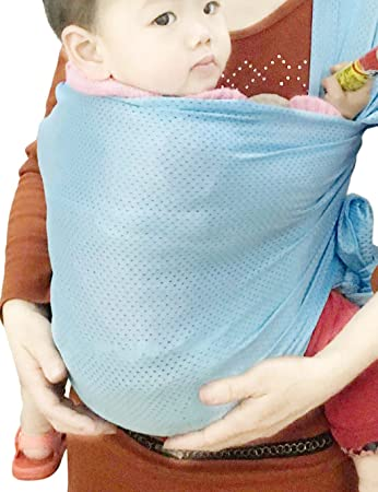 Vlokup Baby Wrap Sling Carrier For Newborn Infant Toddler Kid Breathable Lightweight Stretch Mesh Water