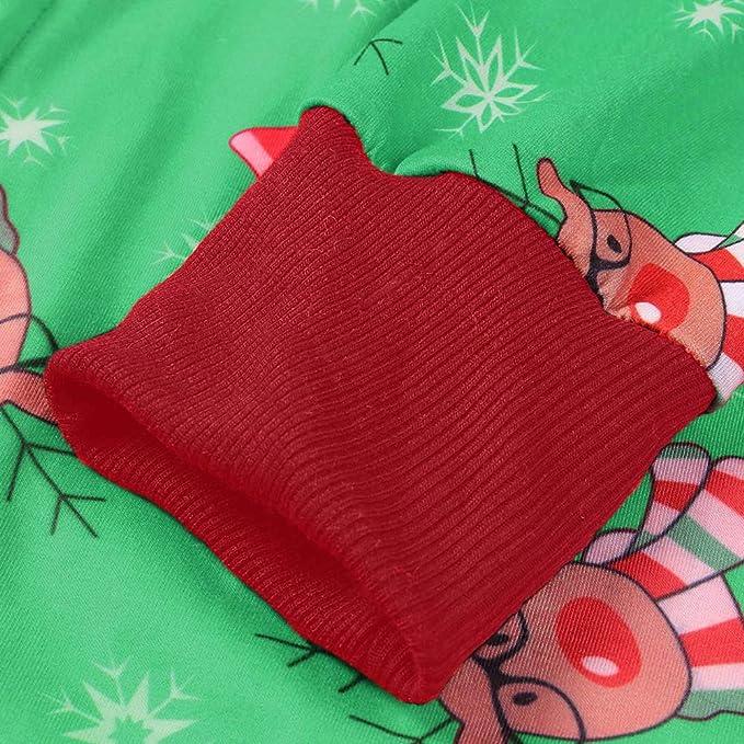 FRAUIT Pigiami di Natale Famiglia Pigiama Bambina Invernale Caldo Cotone Tutine Neonato Natalizio Camicia da Notte di Natalizi Donna Uomo Due Pezzi Camicie da Notte Felpato Natalizia Natalizie