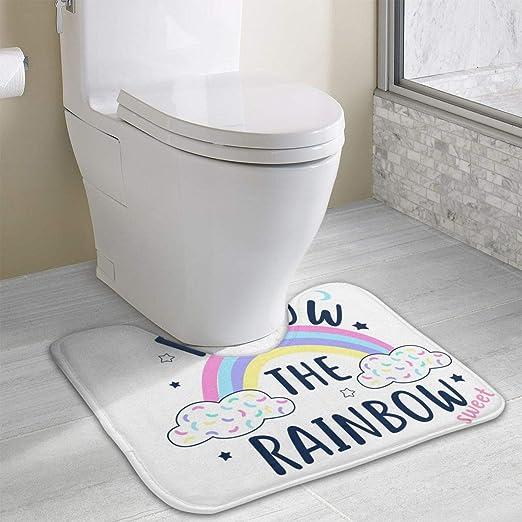 Alfombrilla de baño de Espuma viscoelástica con diseño de arcoíris ...