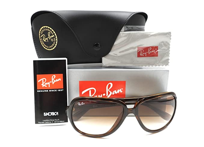 e2d1338659 Amazon.com  Ray Ban Sunglasses RB 4162 RB4162 710 51 Acetate Havana  Gradient brown  Clothing