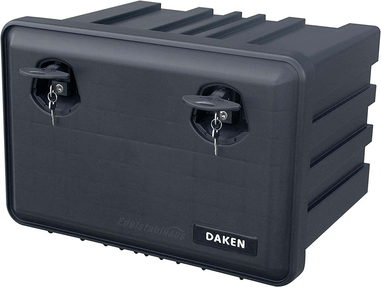 Staubox Deichselbox Werkzeugkiste Staubox Daken J071 LKW Staukasten aus Kunststoff 600x415x460mm 71,5 ltr Werkzeugkasten Daken Just 71,5l Unterbaubox f/ür Nutzfahrzeuge Anh/änger Gurtkiste
