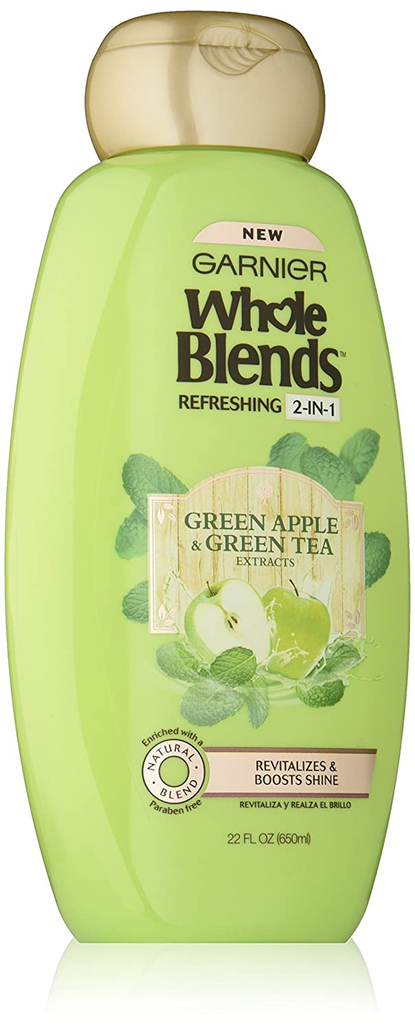 Garnier Whole Blends Refreshing 2in1 Shampoo with Green Apple & Green Tea Extracts, 22 fl. oz.