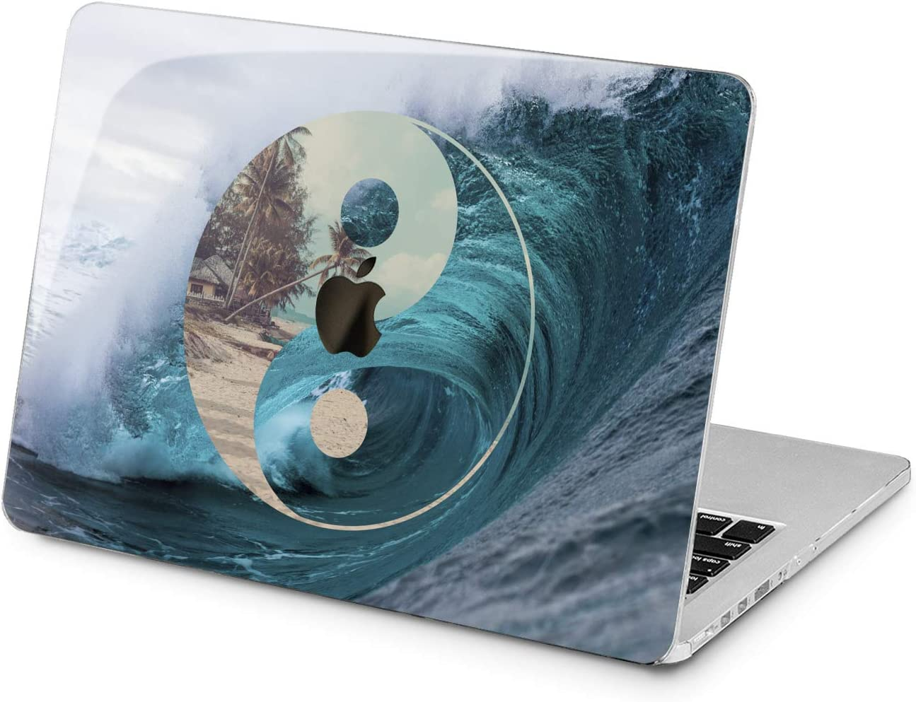 Lex Altern Hard Case for Apple MacBook Pro 15 Air 13 inch Mac Retina 12 11 2020 2019 2018 2017 2016 Ying Yang Wave Nature Blue Women Girls Sea Printed Palm Design Tropical Ocean Cover Touch Bar