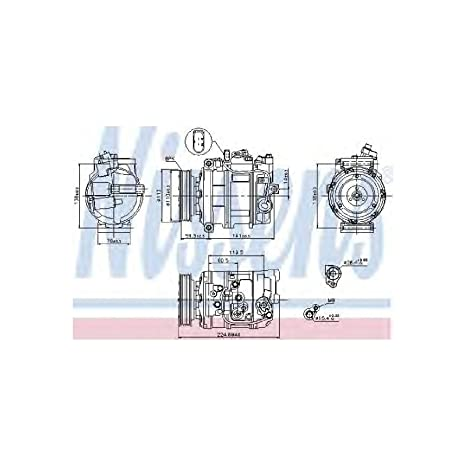 Nissens 89091 Compresor, Aire Acondicionado