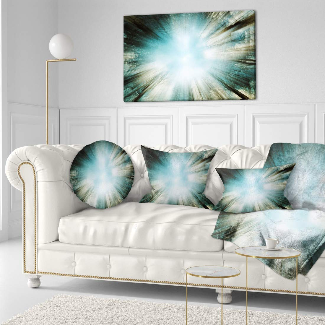 Light From Sky Abstract Canvas art print