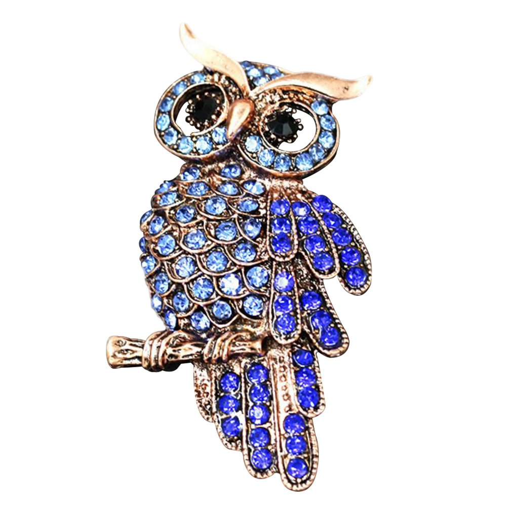 gespout Elegant Fashion Lady Brooch Brooch Accessories Owl Animal Brooch Coloured Rhinestone Jewellery Birthday Gift Suitable for Women