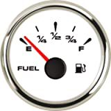 SAMDO Universal Fuel Gauge Digital Fuel Level Gauge Marine Fuel Meter Full Waterproof Signal Adjustable 7 Color…