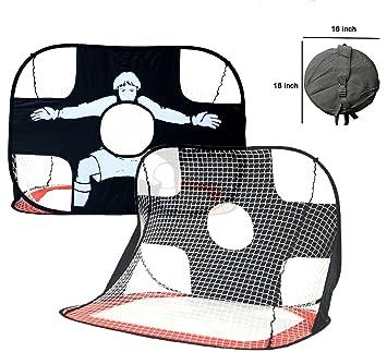 Darius 2 in 1 Soccer Goal Portable Soccer Net With Carry Bag Kids Soccer  Training Target 97af2d773f58