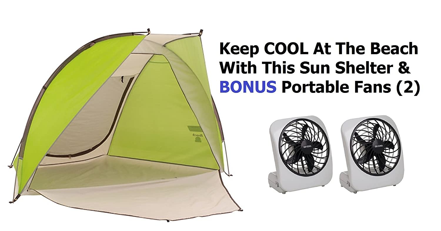 Amazon.com Beach Tent Cabana Sun Shade Shelter Outdoor Canopy ~Includes (2) Portable Fans To Keep You and Your Family From BURSTING Into Flames.  sc 1 st  Amazon.com & Amazon.com: Beach Tent Cabana Sun Shade Shelter Outdoor Canopy ...