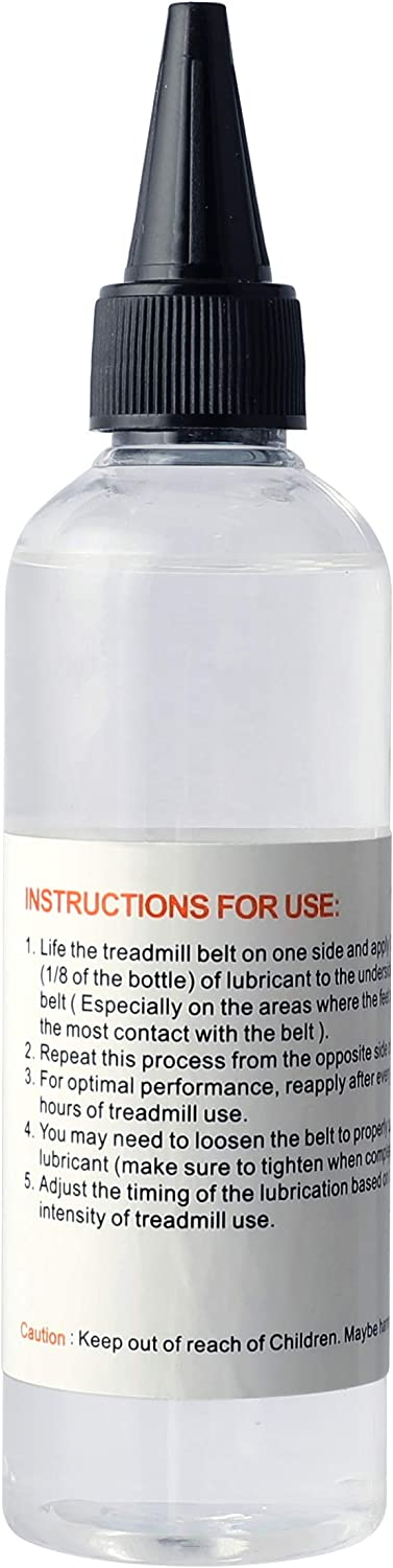 Easy to Apply Formulated to Work with a Wide Range of Walking and Running Treadmills Odorless and Non-Toxic 100/% Silicone Treadmill Belt Lubricant