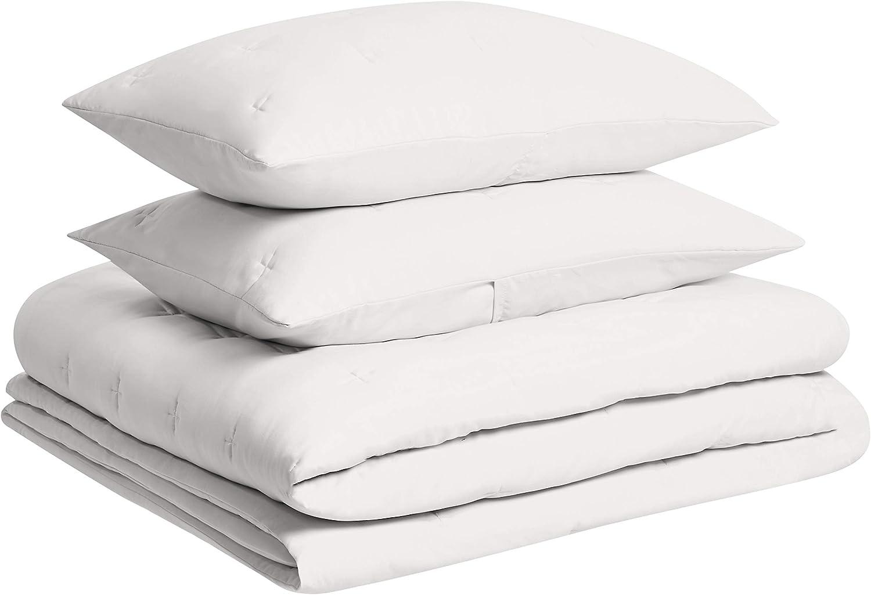 Easy-Wash Microfiber Basics Tufted Stitch Comforter Set Twin//Twin XL Soft Premium Blush Pink