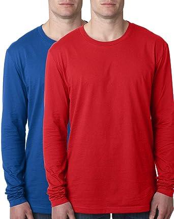 5f028fe3452b Kennedy Todd 2 Pack Men's 100% Cotton Long Sleeve Crew Neck T-Shirt |  Amazon.com