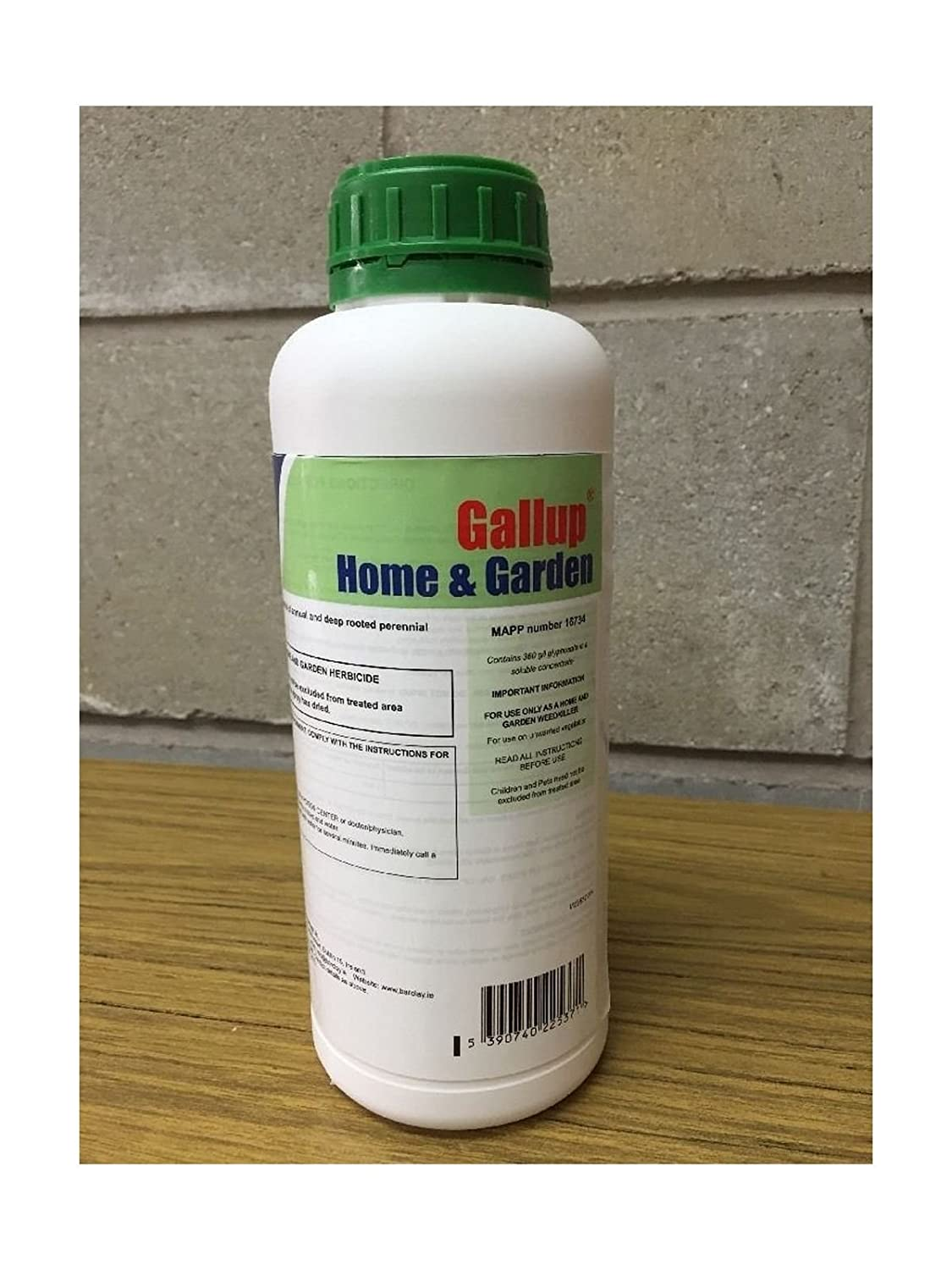 Gallup Barclay Home & Garden Glyphosate Commercial Strength Weed killer treats upto 1666 sq/m 1Lt Bottle Barclays