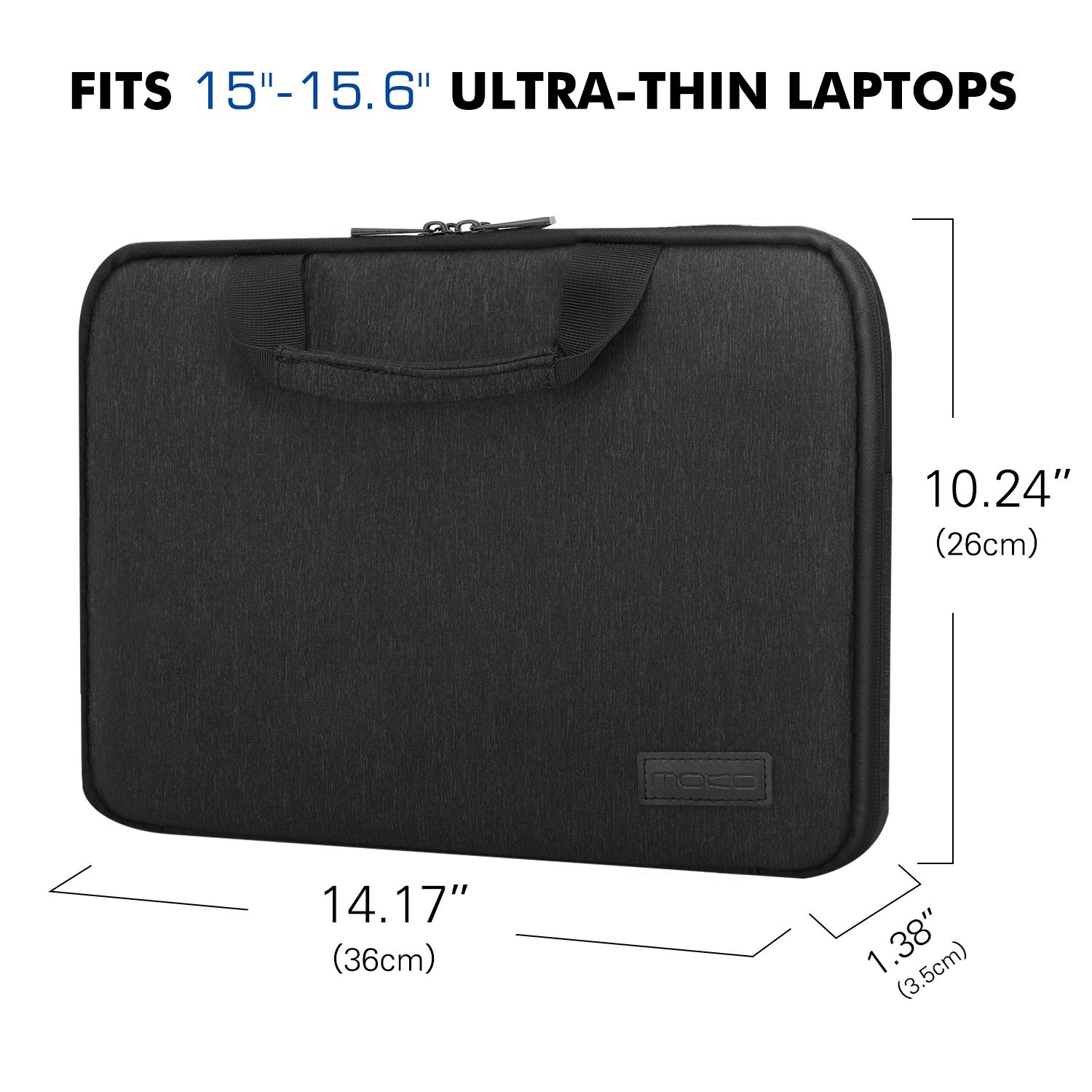 MoKo 13-13.3 Inch Laptop Sleeve Case Handle Fit Electronic Accessories Protective Bag Fit Handle for MacBook Air 13.3/13