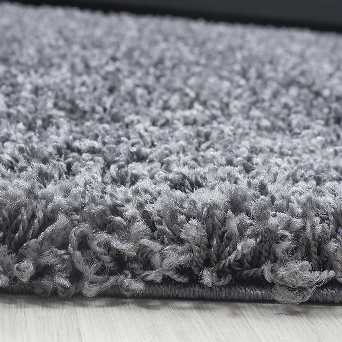 HomebyHome Hochflor Shaggy Rund Teppich Teppich Teppich Carpet Wohnzimmer vers. Farben & Größen, Farbe Beige, Größe 200 cm Rund B06XSTP1QF Teppiche c06389