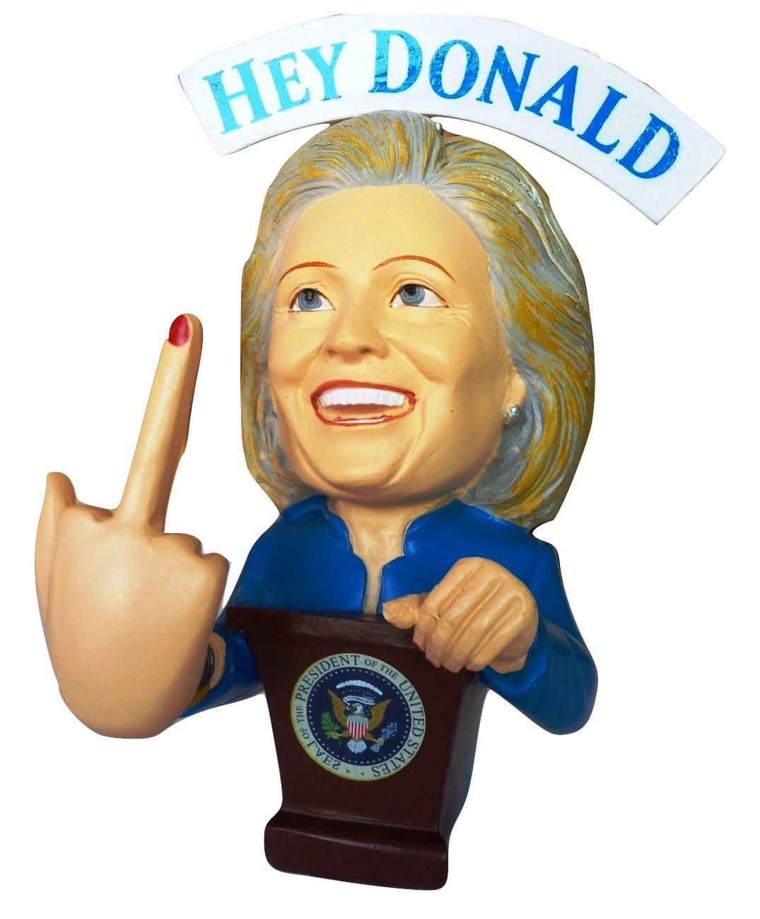Hillary Clinton FU.. YOU Donald Trump Bobble Middle Finger Bobblehead - Election 2016 by FU Clinton Bobbles