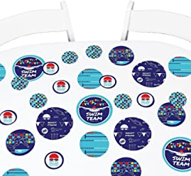 2ce4e43373a Big Dot of Happiness Making Waves - Swim Team - Birthday Party Giant Circle  Confetti -