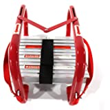 Fire Escape Ladder 2 Story Windows for Adults & Kids   Portable fire Emergency Escape Ladder from Balcony  15 Foot fire Safet