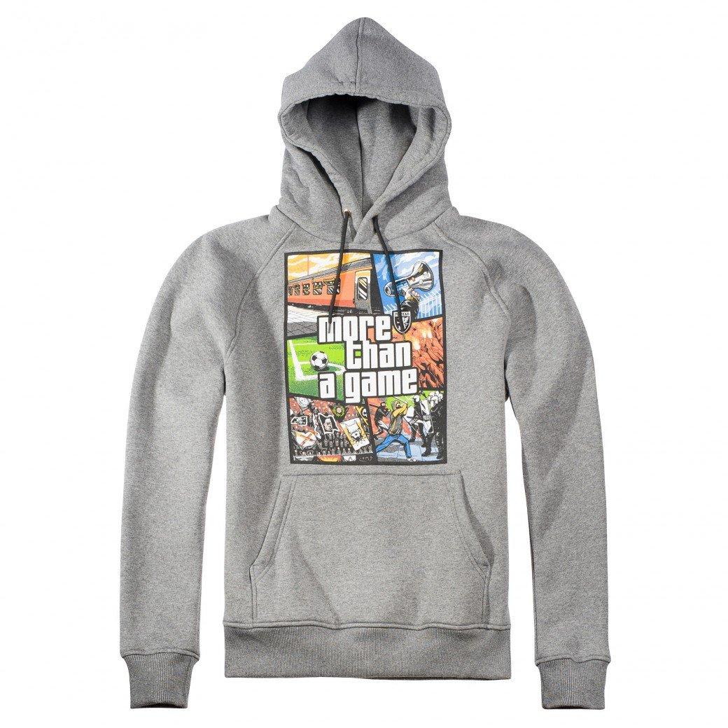 PG Wear Hoody More than a Game, Farbe darkGrau;Größe L