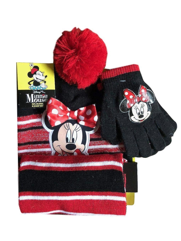 60f2e2ffe43 Girls minnie mouse beanie hat scarf and glove set disney kids little  toddler jpg 1024x1365 Minnie