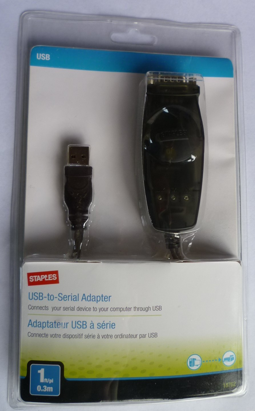 STAPLES USB TO SERIAL ADAPTER MODEL 18762 DRIVER FOR WINDOWS