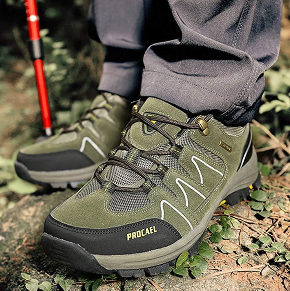 FuweiEncore FuweiEncore FuweiEncore Männer Wanderschuhe Stiefel Leder Wanderschuhe Turnschuhe Für Outdoor Trekking Training Beiläufige Arbeit (Farbe   6, Größe   43EU) 679049