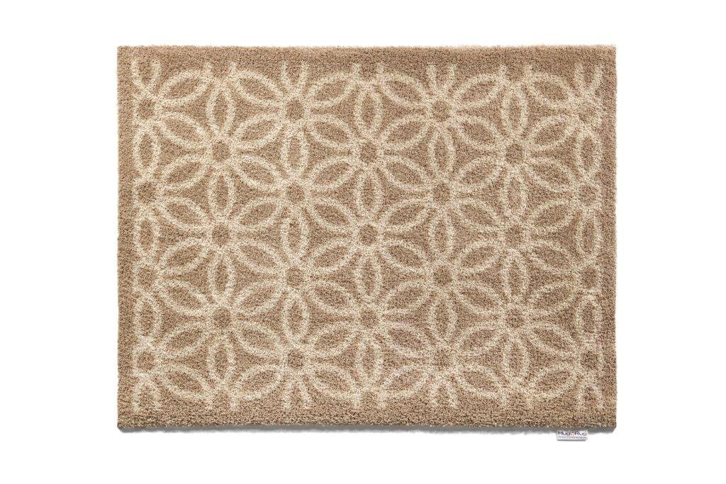Beige Daisy Bosmere Hug Rug Eco-Friendly Absorbent Dirt Trapping Indoor Washable Mat, 25.5  x 33.5 , Topiary Trees