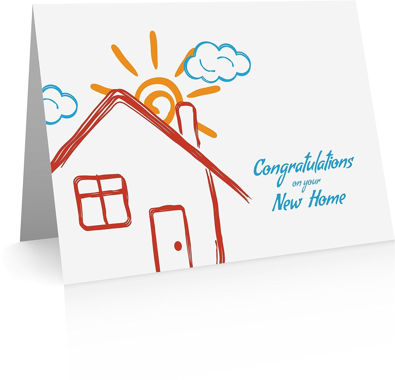 Inauguración de la casa la tarjeta de felicitación para regalo de inauguración de la casa casa (12 tarjetas y sobres en blanco) e6ef9c