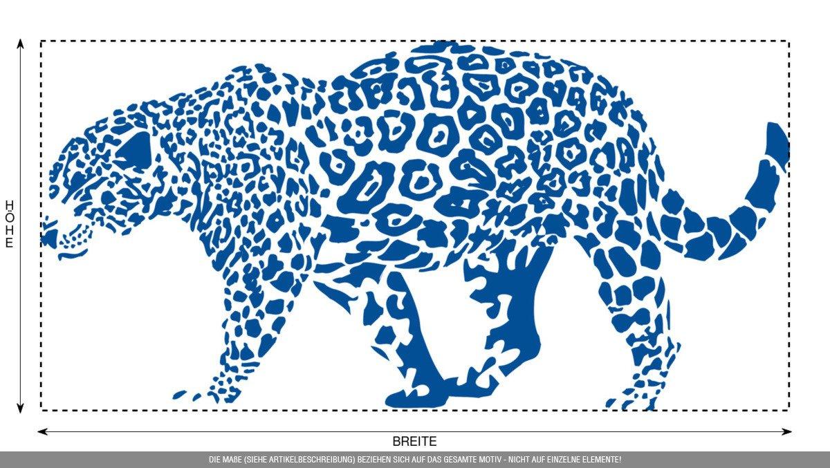 CLICKANDPRINT Aufkleber » Leopard, 150x74,4cm, Türkis • • • Wandtattoo   Wandaufkleber   Wandsticker   Wanddeko   Vinyl B073X8H8DF Wandtattoos & Wandbilder 5b4752