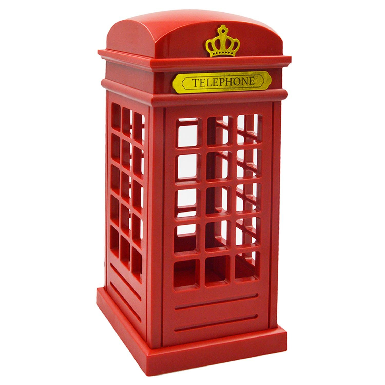 Vintage London Telephone Booth Designed USB Charging LED Night Lamp Touch Sensor Table Desk Light for Bedroom Students Dormitory Illumination Home Bar Decoration Novelty Birthday Adjustable Brightness Elisona