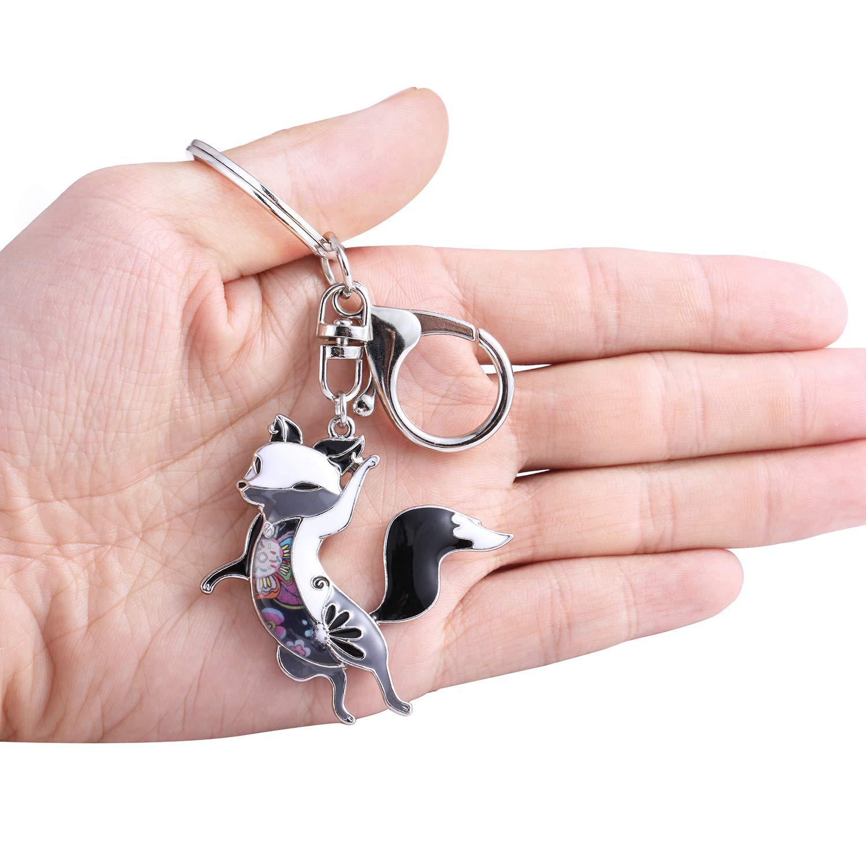 Amazon.com: Luckeyui llavero con diseño de zorro para mujer ...