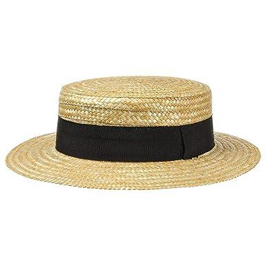 b53f067feef65 Lipodo Sombrero de Paja Canotier Mujer Hombre